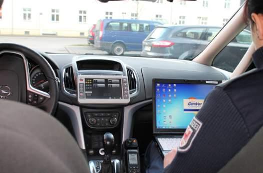 Interaktive Funkstreifenwagen Der Polizei Brandenburg